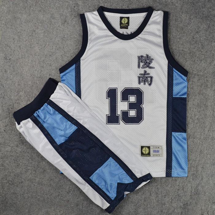 Anime Slam Dunk Cosplay Costume Ryonan School No. 13 Kicchou Fukuda Basketball Jersey Tops + Shorts Full Set Suits Team Uniform With The Most Up-To-Date Equipment And Techniques