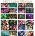 500 PC Novo Laser Holográfico Foils Decalques Prego Foils 2016 Nova Moda Manicure Dicas Da Arte Do Prego Adesivos De Transferência de Papel TME050