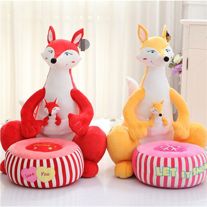 где купить fancytrader big plush fox penguin giraffe crocodile toy cartoon animal sofa chair cushion best gift for children дешево