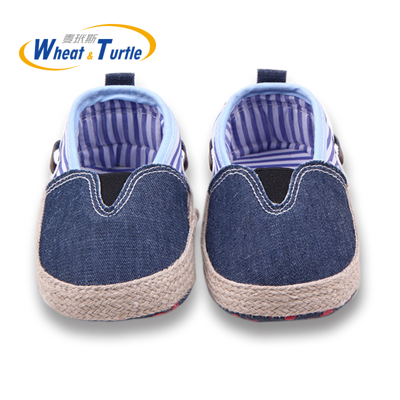 Mother Kids Hand Made Slip On Elastic Baby Shoes All Seasons Unisex Striped Lovely Newborn Infant Soft Sole Toddler Baby Shoes