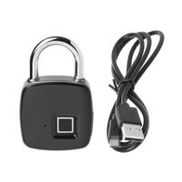 Smart Fingerprint Padlock IP65 Waterproof Keyless Anti theft Suitcase Door Lock Fingerprint Padlock
