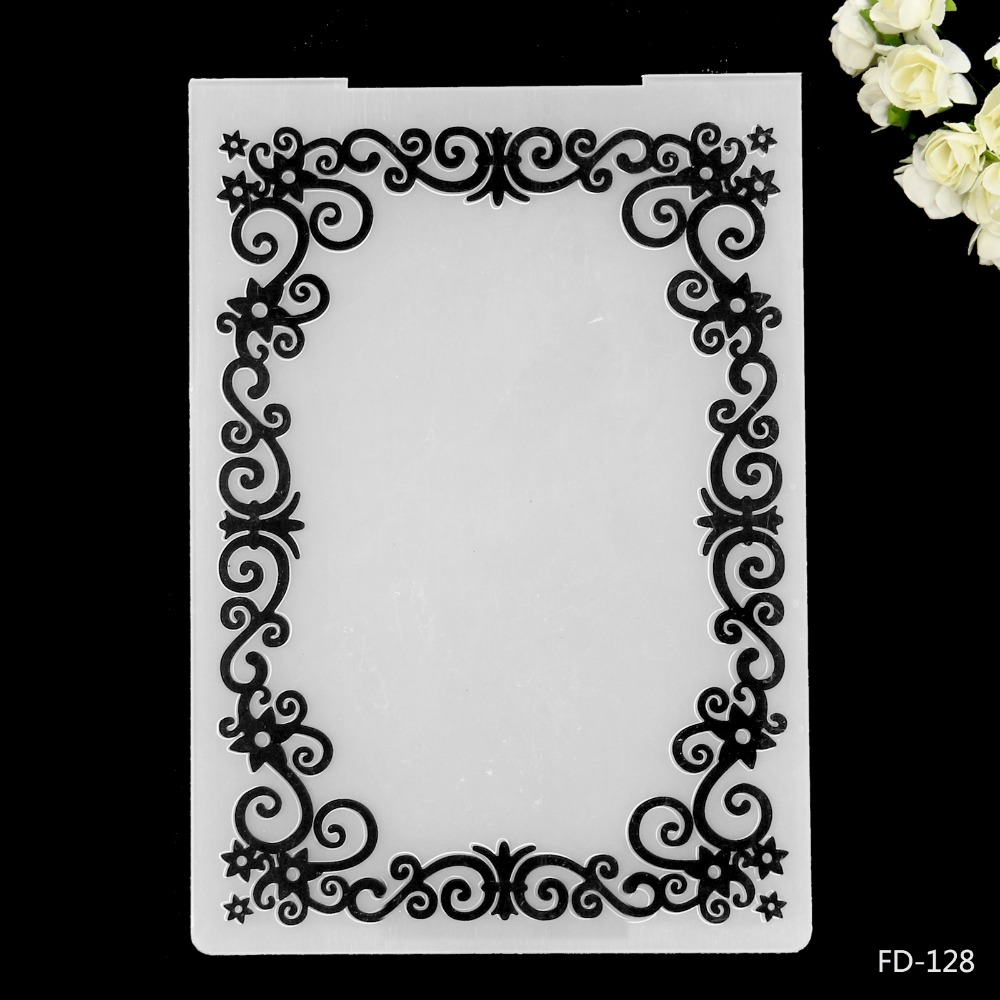 Flower Frames Design Plastic Embossing Folder for Scrapbook DIY ...