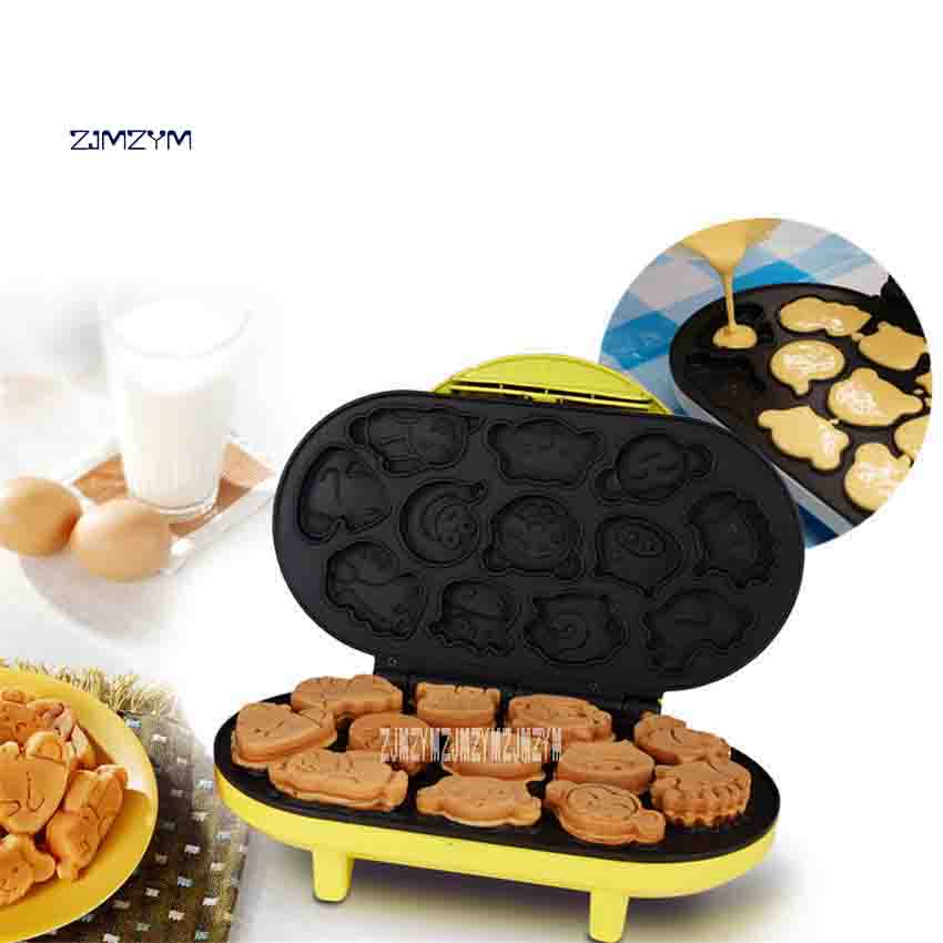 купить CCM-168 Mini Cake Sided Baking Pan Heating Electric Grill Machine Homeheld Waffle Machine Small Pancake Pan 220V 1000W Hot Sale онлайн