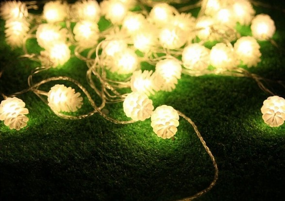 Free Shipping 5M 20 LED Pine Cone String Fairy Light Christmas ...