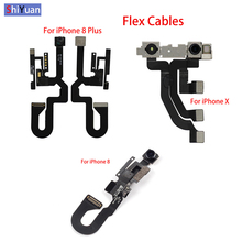 High Quality Front Camera Flex For iPhone 8 Plus 8Plus  X Facing Lens Light Proximity Sensor Cable Replacement