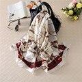 180x90 Links Silk Scarf Brand Women Fashion Shawls Black and White Elegant Bandana Summer Cover New FZC-2206