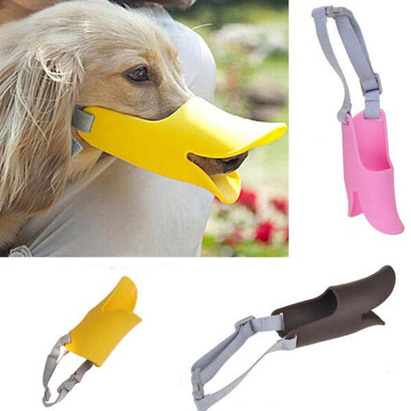 1 יח'\חבילה חמוד חיות מחמד כלב 3D לוע ברווז פנים שפתיים פה משמר הגנה נגד נביחות כלב מסכת ביס Bark למנוע פקק IC871725