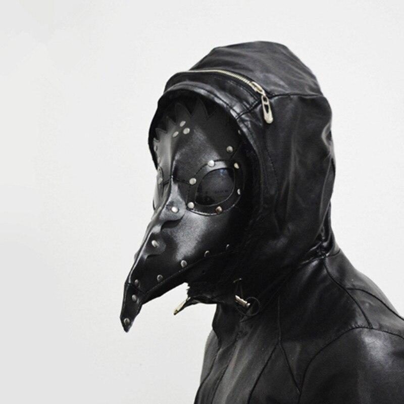 PU Gothic festival supplies bird beak mask black mask halloween mask party mask masquerade party cosplay