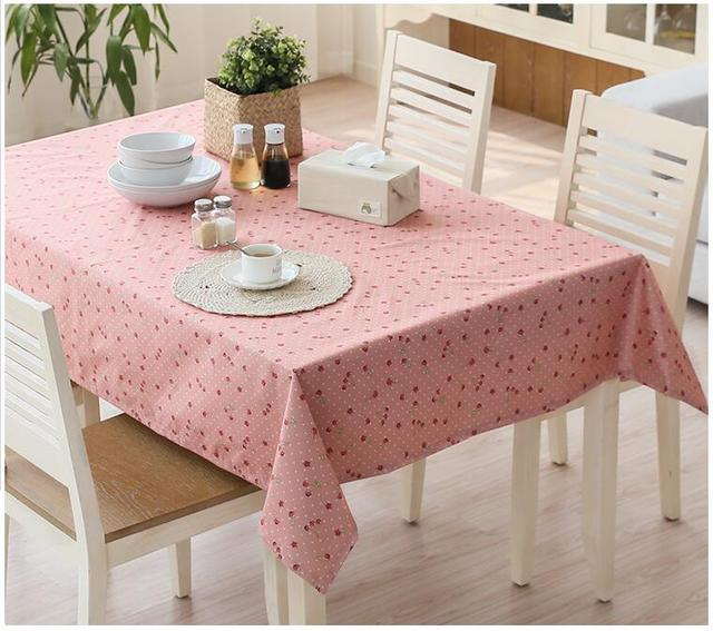 Free Shipping Tablecloth Plastic PVC Waterproof Anti Wrinkle Disposable  Tablecloths Rectangular Coffee Table Cloth Pastoral