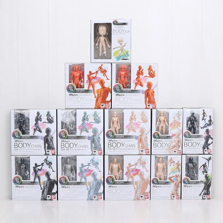 ¡15 cm SHFiguarts cuerpo KUN/cuerpo CHAN gris/naranja Color Ver! PVC figura de acción de colección modelo de juguete