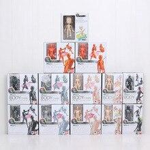 15cm SHFiguarts BODY KUN / BODY CHAN Grey / Orange Color Ver. PVC Action Figure Collectible Model Toy