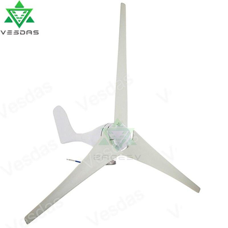 Vesdas 200 W 12 V 24 V 3/5 lames petite taille puissante éolienne générateur 2 m/s faible vitesse de démarrage du vent adapté à une utilisation en bateau à domicile