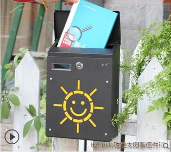 Korean Small Villa Creative Suggestion Box Mail Outdoor Mailbox Mail Letter Box