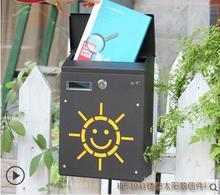 Korean Small Villa Creative Suggestion Box Mail Outdoor Mailbox Mail Letter Box