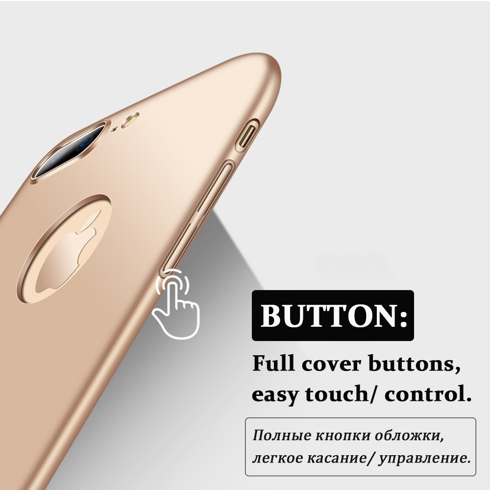 KIP7P1166_8_Luxury Frosted Case For iPhone 7 8 Hard Plastic Full Protection Back Cover for iPhone  6 6S Case For iPhone 7 Plus 8 Plus