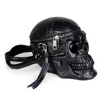 Gothic Skull Retro Rock Bag Crossbody Women Messenger Bag Leather PU Handbag Black Nightclub Tassel Lady Shoulder Package 3