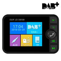 Car DAB Radio Receiver Colorful TFT Bluetooth FM Transmitter + MCX Antenna 3.5mm Jack Audio Output DAB Tuner Support TF Card
