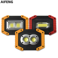 AIFENG Portable Spotlight Led Work Light AA or 18650 Battery Operate Outdoor Lighting For Hunting Camping Led Lantern Flashlight