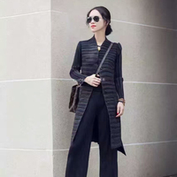 Hot Sale 2017 Spring New Women Long Coat Fashion Western Style Casaco Feminino Most Popular Pure