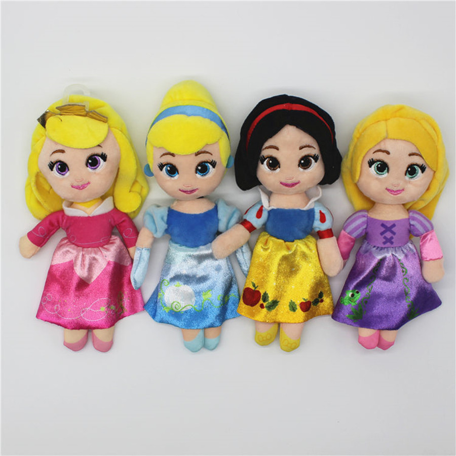 1pcs 20cm=7.8inch original Snow White Aurora Cinderella Princess Tangled Rapunzel brinquedos baby Christmas princess plush toys1pcs 20cm=7.8inch original Snow White Aurora Cinderella Princess Tangled Rapunzel brinquedos baby Christmas princess plush toys