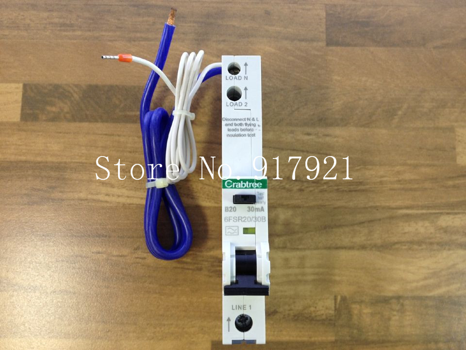 [ZOB] The German Crabtree 6FSR20/30B leakage protector compact leakage protection switch 1P20A 30MA original --5pcs/lot