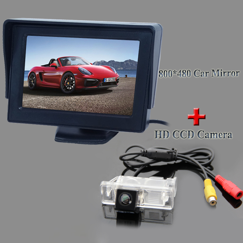 Placment In-Dash hot selling lcd car screen monitor 4.3+on promotion car parking camera car 2 in 1 set for Benz Viano vito