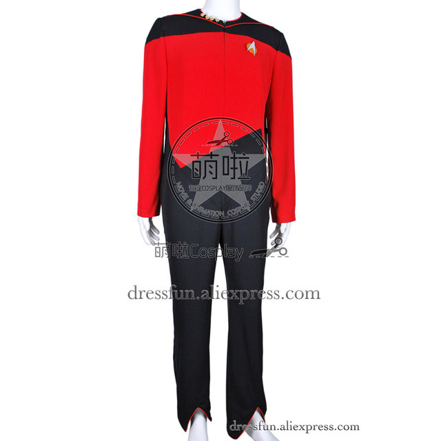 Star Trek Cosplay Command Costume Full Set Red Jumpsuit Uniform Outfits  Suit Halloween Fashion Party Fast