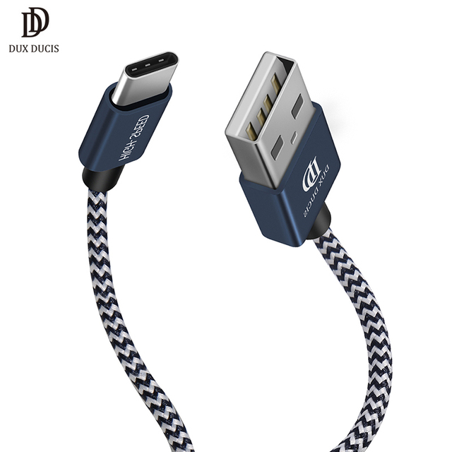 DUX DUCIS 2 Pack USB Type-C Cable Nylon Braided 0.2m 1m Type C Charging Data Cable for Samsung Xiaomi Huawei 5V 2A 2PCS/Lot Gift