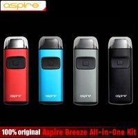 100 Original Aspire Breeze All In One Kit 650mAh Breeze Tank 2ml Electronic Cigarette Vape Kit