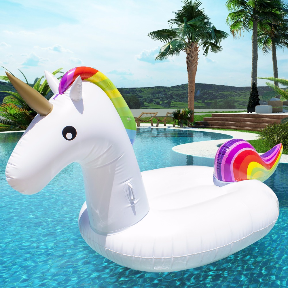 200 90 120cm giant inflatable unicorn pool float 2017 newst ride on swimming ring adult children. Black Bedroom Furniture Sets. Home Design Ideas