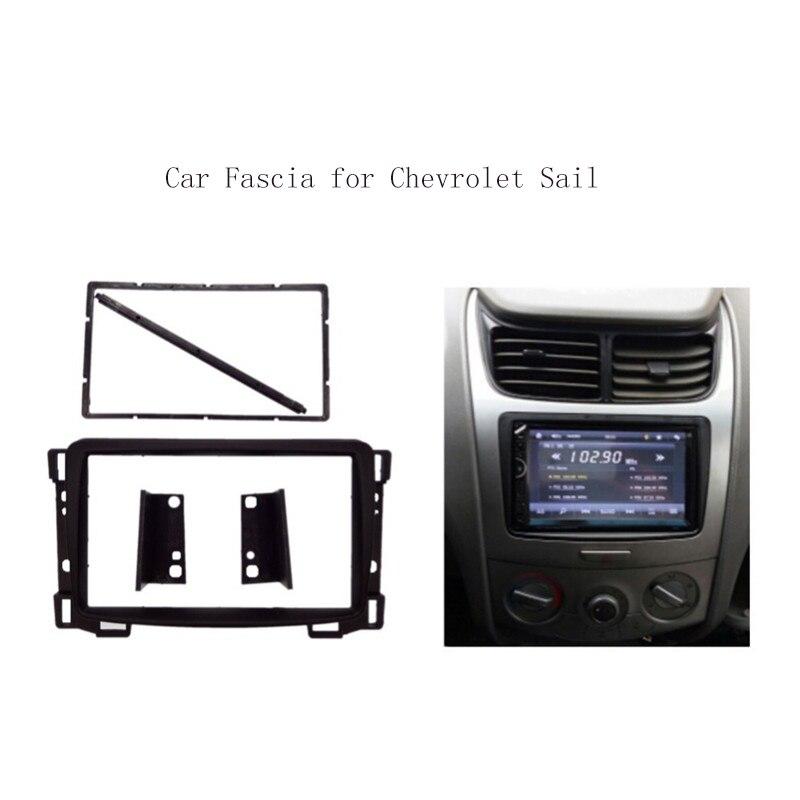 2 Din Car Radio Fascias Fit For Chevrolet Sail Facia DVD Stereo Panel Fascia Dash Mount Kits Refit Installation Trim Frame Bezel