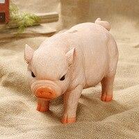 Resin Craft Cute Pig Piggy Box Home Decoration Accessories Money Saving Box Ornaments Pet Pig Piggy Box
