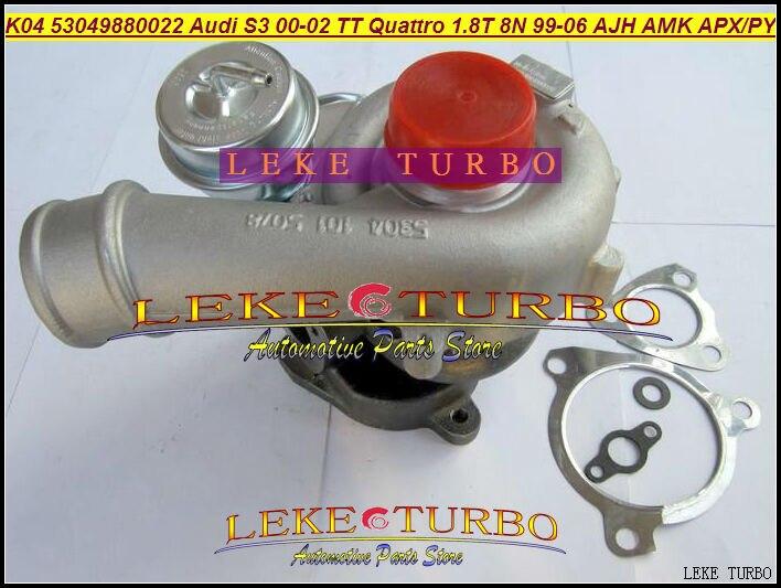 Free Ship K04 022 53049700022 53049880022 06A145704P Turbo For AUDI S3 2000-02 TT Quattro 1999-06 AJH AMK APX APY 1.8T 8N 1.8L free ship turbo k04 53049880015 53049700015 058145703l for audi a4 a6 vw passat aeb anb apu awt avj bex 1 8l 1 8t upgrade 210hp