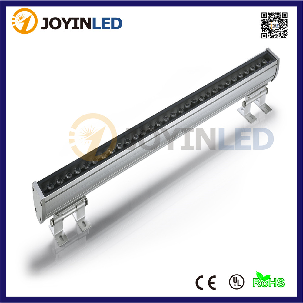 Free shipping AC85~265V LED liner bar light outdoor IP65 waterproof 16key remote controller RGB led wall washer lights 36W 36w led wall washer ac85 265v warm white rgb color free shipping