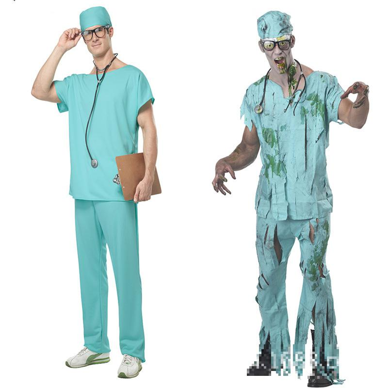 2017 New Arrival Halloween Masquerade Doctor Scrubs Cosplay Costume Clothes Men Nurse Uniforms Nightclub Ds Clothing-in Sexy Costumes from Novelty u0026 Special ...  sc 1 st  AliExpress.com & 2017 New Arrival Halloween Masquerade Doctor Scrubs Cosplay Costume ...