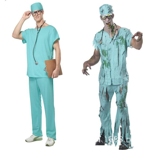 66389cebcc8f7 2017 New Arrival Halloween Masquerade Doctor Scrubs Cosplay Costume Clothes Men  Nurse Uniforms Nightclub Ds Clothing