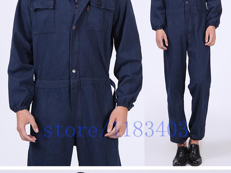 Nuovi uomini tuta denim lavoro clothing manica lunga con cappuccio ... f33e8127eef