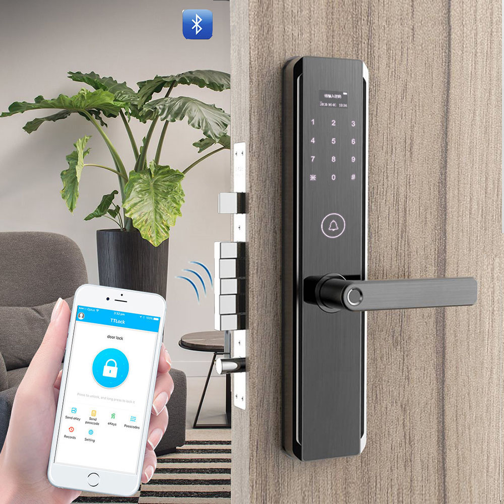 YOHEEN Wifi App Fingerprint Digital Door Lock Security Home Keyless Bluetooth Password RFID Card Key Anti