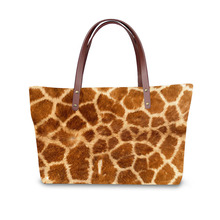 Handbag for Women 2019 Bags Shoulder Bag Beach Bag 3D Leopard Print Pattern Design Tote Bolso stylish women s evening bag with leopard print and plaid design