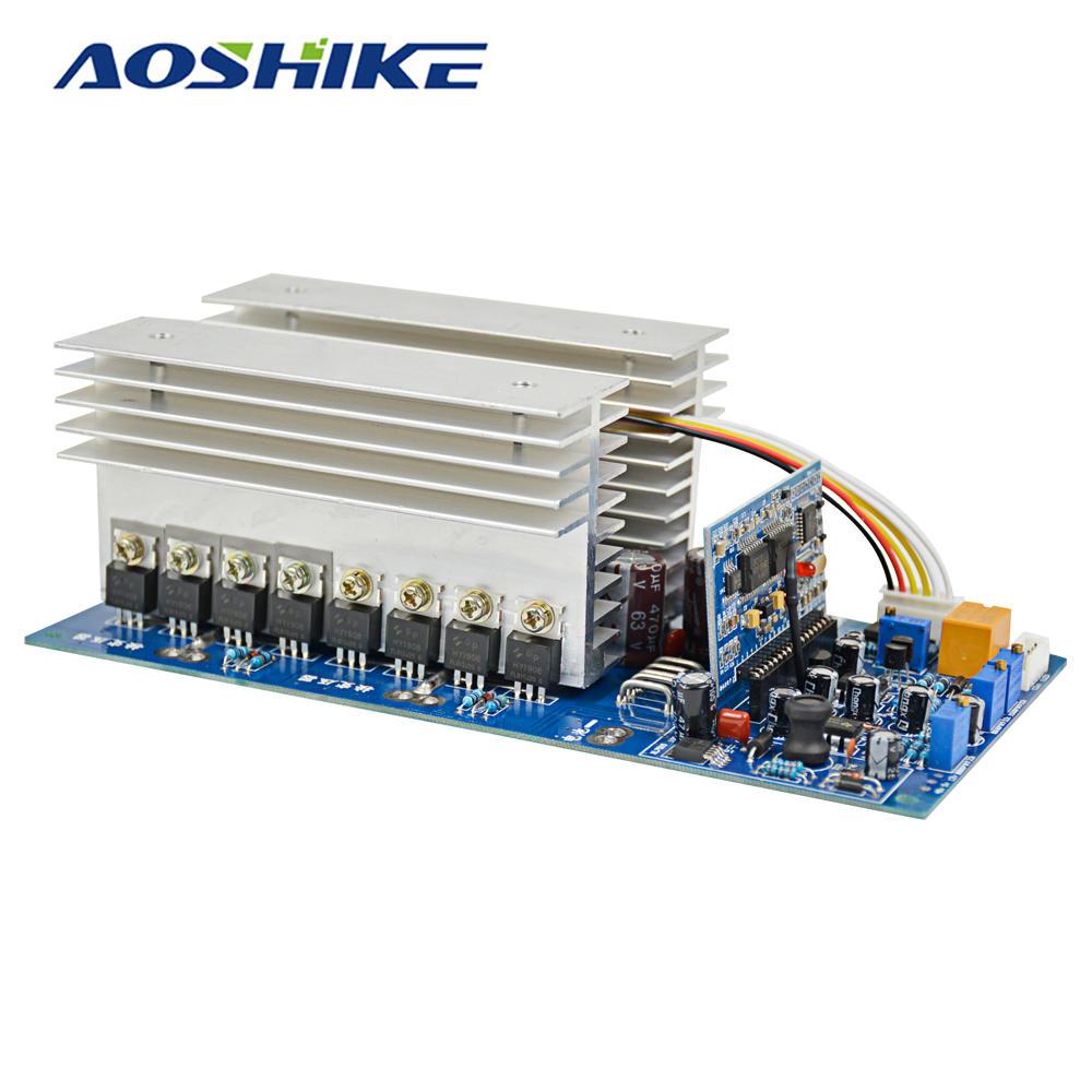 Aoshike 3000W Pure Sine Wave Power Frequency Inverter Board DC 24V 48V 60V to AC 220V 1500W 3500W with Perfect Protection
