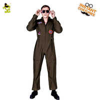 New Men's Top Gun Costumes Masquerade Party Fancy Dress Strong Gun Costumes In Party Cosplay Gun Clothes
