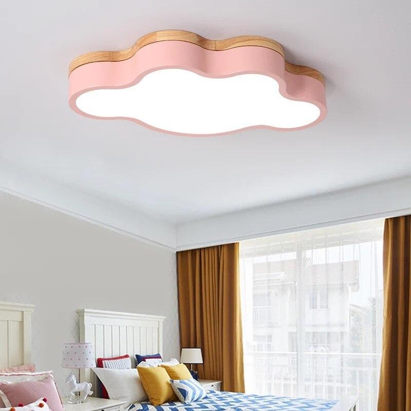 Lustre Led moderne pour chambre d'enfants chambre d'enfants chambre rose/blanc/vert/jaune couleur lustre au plafond