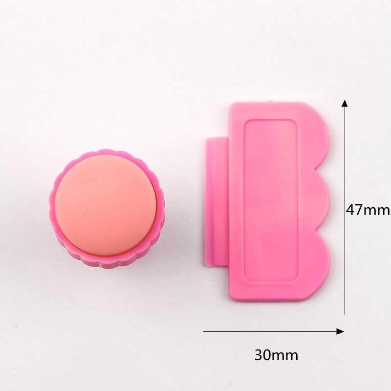 Gran oferta sello de imágenes para manicura estampado de placas de manicura Set para DIY 1 estampadora + 1 raspador Kits de sellos de uñas