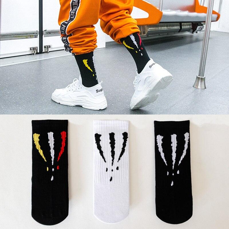 New Fashion Men Women Socks Long Crew Cotton hip hop Cool Funny Skate Socks personality Street Casual Men socks hockey sock