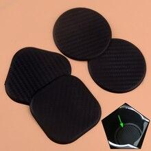 CITALL 2Pcs Carbon Fiber Texture Car Water Cup Slot Non-Slip Mat 6.3cm Vehicle Silicone Accessories