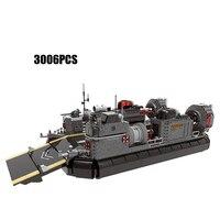 Военный деятель бронированный транспортно десантный самолёт корабль Moc строительные блоки ww2 армии minifigs через поле боя batisbricks набор игрушек
