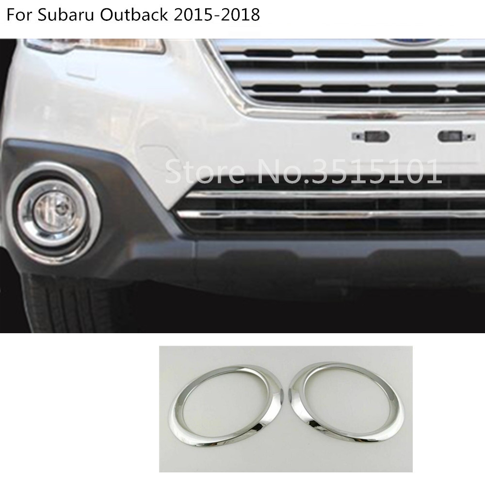 For Mitsubishi Outlander 2013-2015 2PCS ABS Chrome Front Fog Lamp Frame Replace
