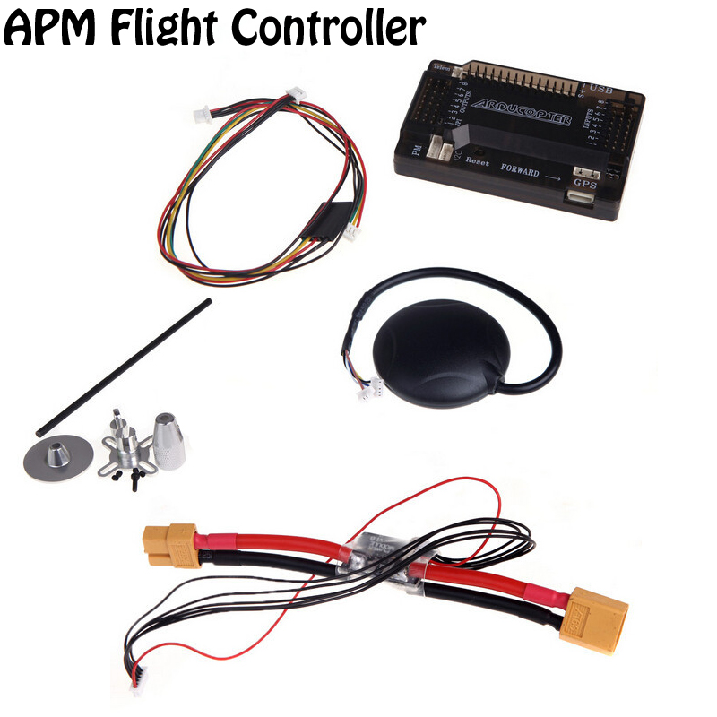 Wholesale OCDAY APM 2.6 ArduPilot Mega External Compass APM Flight Controller w/Ublox NEO-6M GPS RC Airplane Part Dropship apm 2 6 flight controller board ardupilot mega 2 6 version with side pin connector for multicopter