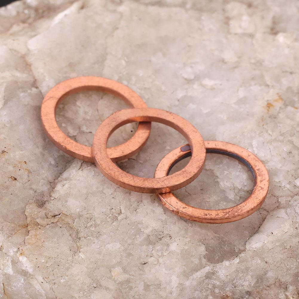 20PCS/Pack 10*14*1MM Copper Washer Solid Gasket Sump Plug Oil Seal Fittings Tool Parts Accessories Drop Shipping 100 20pcs 10 14 1mm copper sealing washer solid gasket sump plug oil for boat crush washer flat seal ring tool parts accessories
