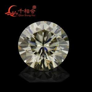 Image 2 - 5mm to 12mm  yellow color  Round Brilliant cut Sic material moissanite  loose stone by qianxianghui (vdieo is light yellow)